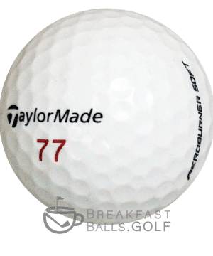 TaylorMade Aeroburner Pro image of a used golf ball on breakfastballs.golf