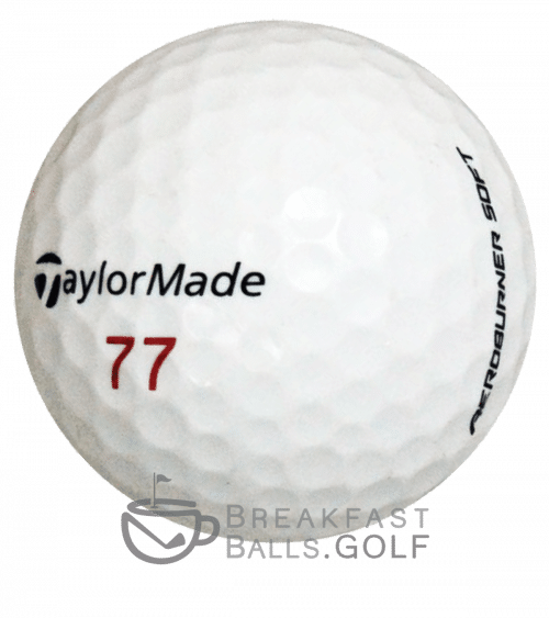 TaylorMade Aeroburner Pro image of a used golf ball on breakfastballs.golf